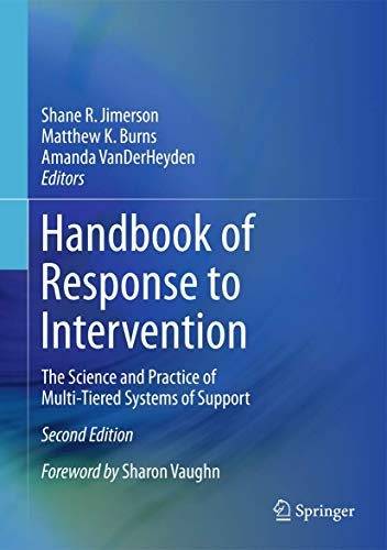 Handbook of Response to Intervention: Shane R. Jimerson