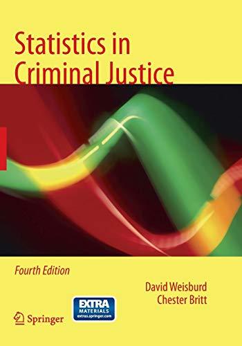 9781489977625: Statistics in Criminal Justice
