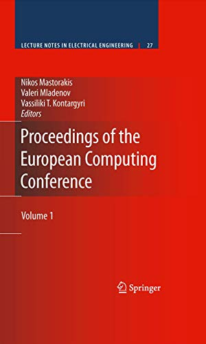 9781489977694: Proceedings of the European Computing Conference: Volume 1 (Lecture Notes in Electrical Engineering)