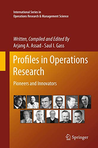 9781489979094: Profiles in Operations Research: Pioneers and Innovators (International Series in Operations Research & Management Science)