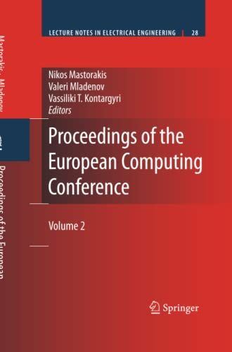 9781489979247: Proceedings of the European Computing Conference: Volume 2 (Lecture Notes in Electrical Engineering)