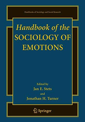 9781489979360: Handbook of the Sociology of Emotions