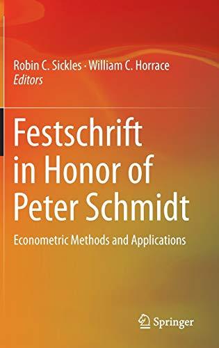 9781489980076: Festschrift in Honor of Peter Schmidt: Econometric Methods and Applications