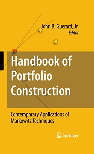 9781489983022: Handbook of Portfolio Construction: Contemporary Applications of Markowitz Techniques
