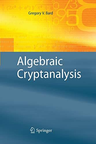 9781489984500: Algebraic Cryptanalysis