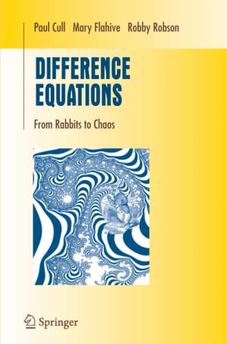 9781489988232: Difference Equations: From Rabbits to Chaos (Undergraduate Texts in Mathematics)