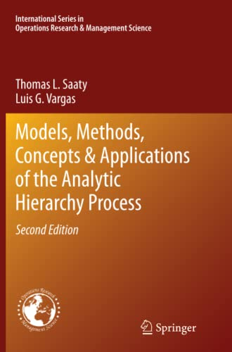 9781489990099: Models, Methods, Concepts & Applications of the Analytic Hierarchy Process (International Series in Operations Research & Management Science)