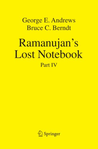 9781489991751: Ramanujan's Lost Notebook: Part IV