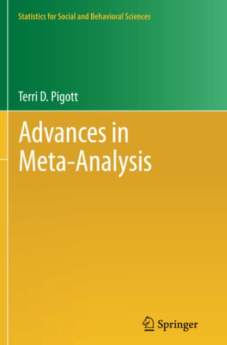 9781489993656: Advances in Meta-Analysis (Statistics for Social and Behavioral Sciences)