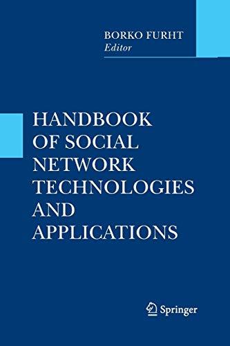9781489994004: Handbook of Social Network Technologies and Applications