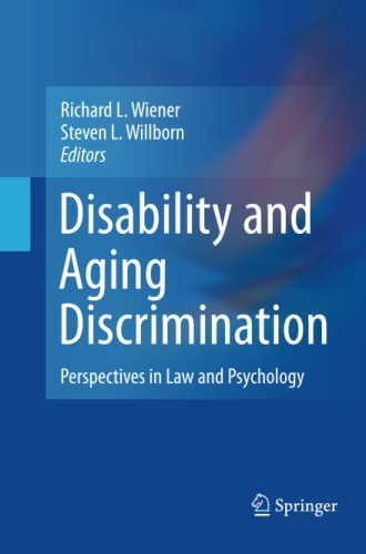 9781489998880: Disability and Aging Discrimination: Perspectives in Law and Psychology