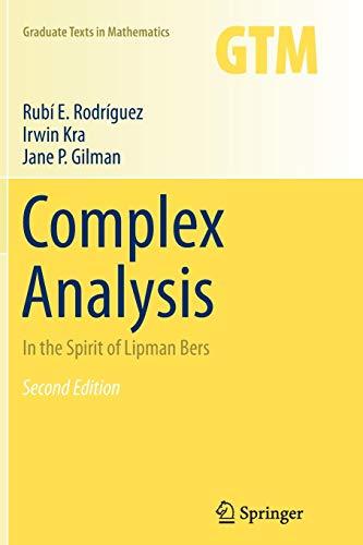Complex Analysis: In the Spirit of Lipman: Rubi E. Rodriguez,
