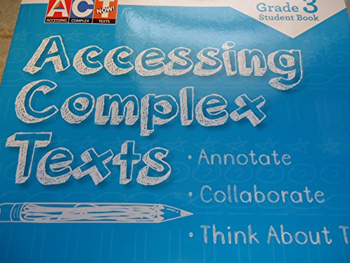 9781490031156: Act Now Grade 3 Student Book Accessing Complex Texts