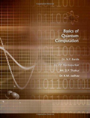Basics of Quantum Computation: Jadhav, Dr. K.