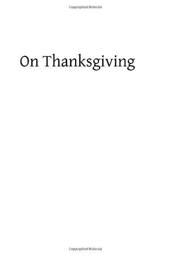 9781490444482: On Thanksgiving