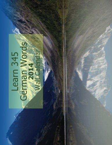 9781490470757: Learn 345 German Words 2014 Wall Calendar (Wall calendars) (Volume 2)