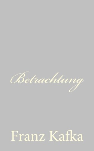 9781490579337: Betrachtung (German Edition)