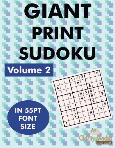 9781490943473: Giant Sudoku Volume 2: 100 sudoku puzzles in giant print 55pt font size