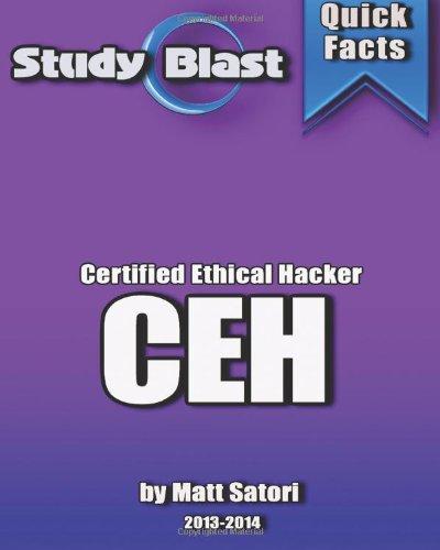 9781491060834: Study Blast CEH Certified Ethical Hacker Exam Study Guide: 312-50 - CEH Certified Ethical Hacker 8 (Formerly 7)