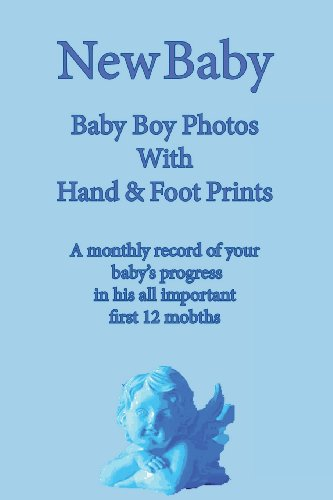 9781491228081: New Baby: Baby Boy Photo Album with Foot & Hand Prints