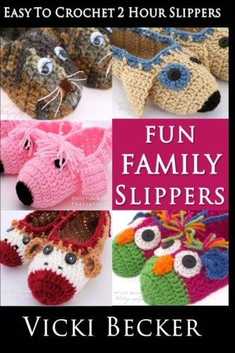 Fun Family Slippers Easy To Crochet 2 Hour Slippers