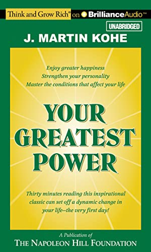 9781491510117: Your Greatest Power (Think and Grow Rich (Audio))