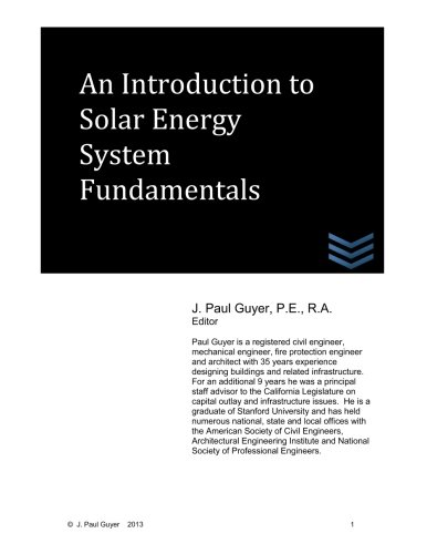9781492140757: An Introduction to Solar Energy System Fundamentals