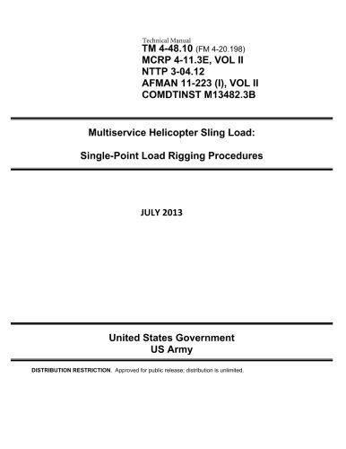 9781492193128: Technical Manual TM 4-48.10 (FM 4-20.198, MCRP 4-11.3E VOL II, NTTP 3-04.12, AFMAN 11-223 (1) VOL II, COMDTINST M13482.3B): Multiservice Helicopter ... Load Rigging Procedures July 2013