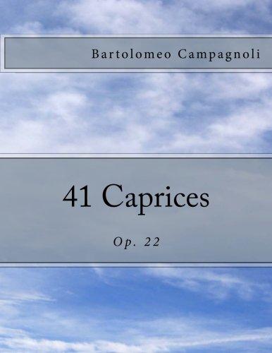 9781492215219: 41 Caprices: Op. 22