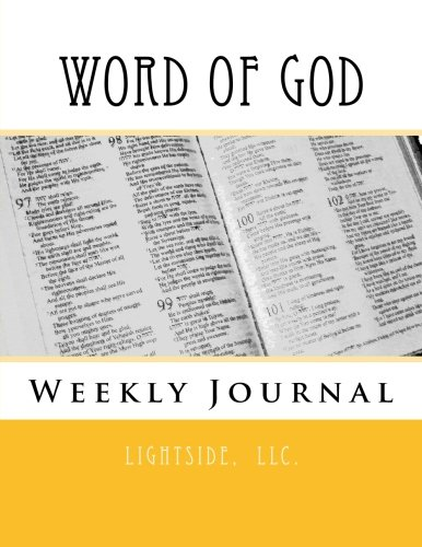 9781492260684: Word of God Weekly Journal: Undated, Scriptures in KJV