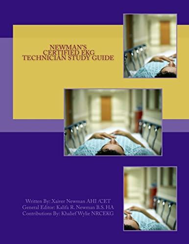 9781492369387: Newman's Certified EKG Technician Study Guide