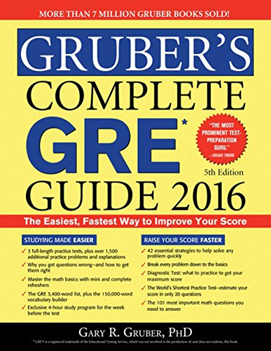 9781492613503: Gruber's Complete GRE Guide 2016