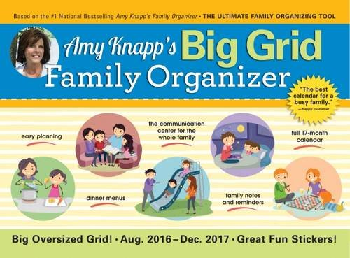 9781492634331: 2017 Amy Knapp Big Grid Wall Calendar: The Essential Organization and Communication Tool for the Entire Family