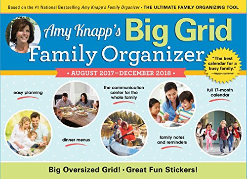2018 Amy Knapp Big Grid Wall Calendar: August 2018-December 2017