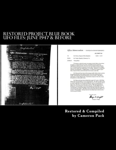 9781492788645: Restored Project Blue Book UFO Files: June 1947 & Before