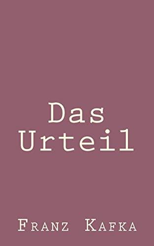 9781492794783: Das Urteil (German Edition)