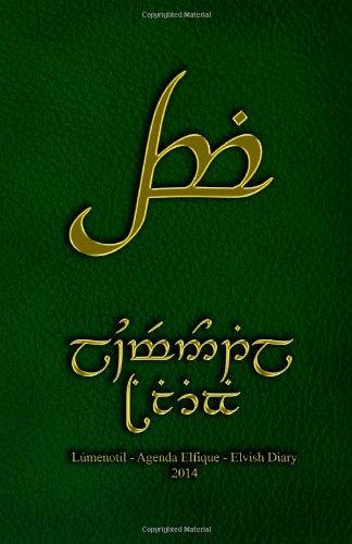 9781492868613: Elvish Diary/Agenda Elfique tengwar 2014