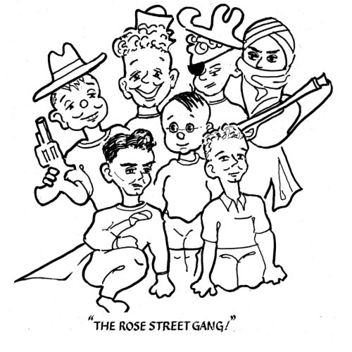 9781492903468: The Rose Street Gang Coloring Book