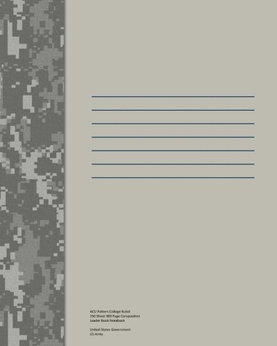 9781492915102: ACU Pattern College Ruled 150 Sheet 300 Page Composition Leader Book Notebook