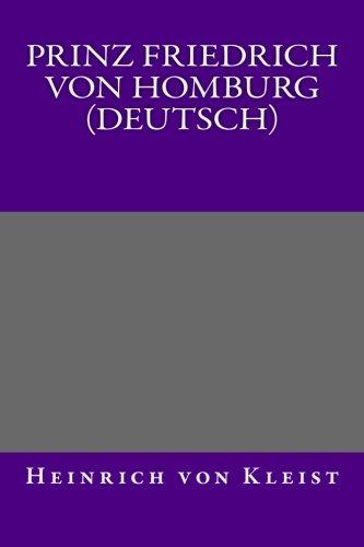 9781492923275: Prinz Friedrich von Homburg (Deutsch)