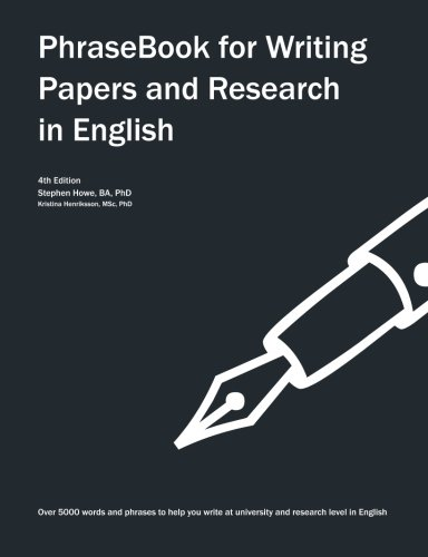 9781492959793: Phrasebook for Writing Papers and Research in English