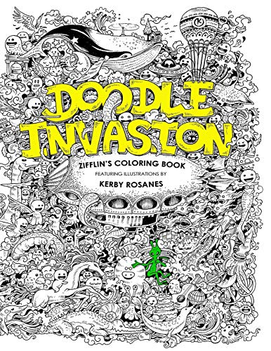 9781492977056 Doodle Invasion Zifflins Coloring Book Volume