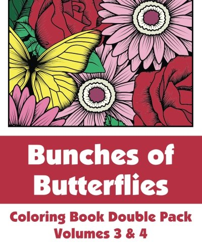 9781492980513: Bunches of Butterflies Coloring Book Double Pack (Volumes 3 & 4) (Art-Filled Fun Coloring Books)
