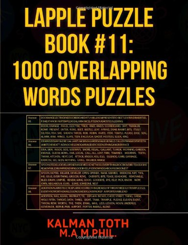 9781492996224: Lapple Puzzle Book #11: 1000 Overlapping Words Puzzles (LAPPLE IQ PUZZLES)