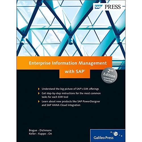 Enterprise Information Management with SAP (2nd Edition): Corrie Brague; Ryan Champlin; Frank ...