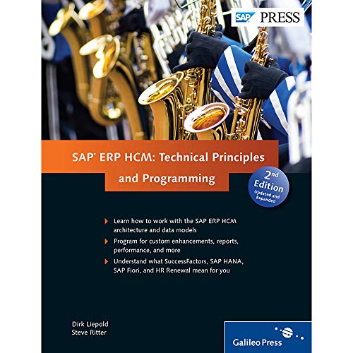 SAP ERP HCM: Technical Principles and Programming (Hardback): Ritter Liepoid
