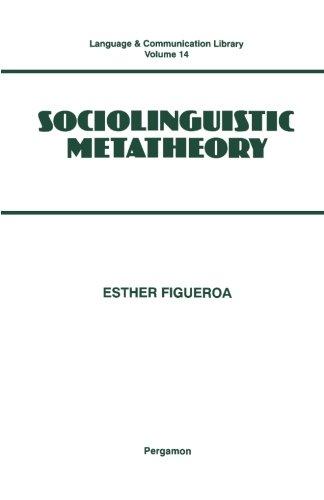 9781493307784: Sociolinguistic Metatheory