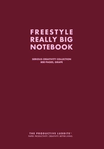 Freestyle Really Big Notebook, Serious Creativity Collection, 800 Pages, Grape: The Productive ...