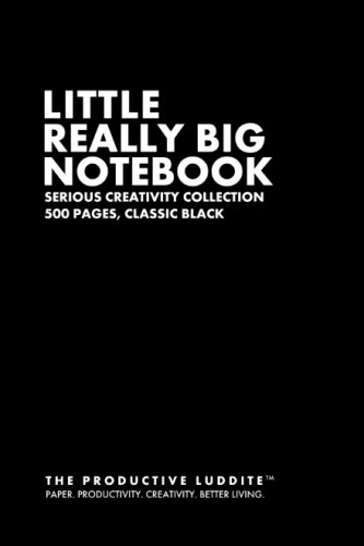 9781493629695: Little Really Big Notebook: Serious Creativity Collection, 500 Pages, Classic Black