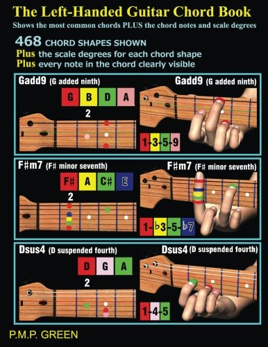 9781493660377: The Left-Handed Guitar Chord Book: Shows the most common chords plus the chord notes and scale degrees